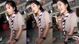 ครูสาวน่ารักถูก นร.เร้าให้ร้องเพลง ยอมใจอ่อน แต่พอโชว์ลูกคอ แทบปาใจใส่รัวๆ