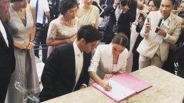 วินาที เจนี่ มิกกี้ จดทะเบียนสมรส