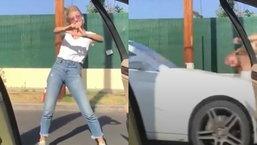 สาวอัดคลิปเต้นเทรนด์ดัง โดนรถชนเจ็บหนัก