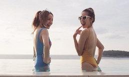 นิว จิ๋ว เซ็กซี่แพ็คคู่ สวมชุดว่ายน้ำอวดหุ่นแซ่บ ดีวาที่ไม่ได้มีดีแค่เสียง
