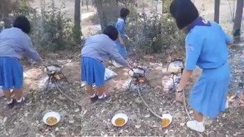 อย่างฮา ยุวกาชาดเชียร์เพื่อนทอดไข่ สุดท้ายคว่ำ อดกินกันทั้งหมู่