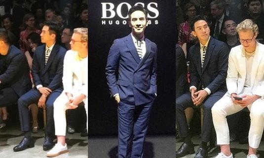 """คุณพี่ฮอตมาก """"โป๊ป"""" พระเอกไทยคนแรก แบรนด์ Hugo Boss เชิญร่วมชมแฟชั่นที่สิงคโปร์"""