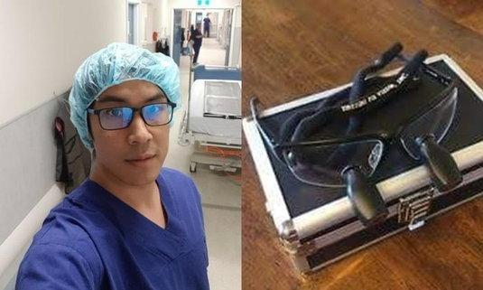 """โจรขึ้นบ้าน """"หมอหนุ่ม"""" ฉกแว่นตาที่ใช้ผ่าตัดหัวใจไป วอนนำมาคืน"""
