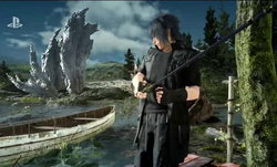 Final Fantasy XV ตัวอย่างโหมด VR ตกปลาแบบสมจริง