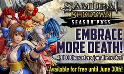 Samurai Shodown เผยกำหนดปล่อย DLC เพิ่ม 4 ตัวละคร