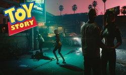 ตัวละคร V ใน Cyberpunk 2077 ท่าวิ่งดันไปคล้ายวู้ดดี้ของ Toy Story