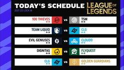 สรุปผลการแข่งขัน LOL LCS 2021 Lock In Groups Day 1 NA Return