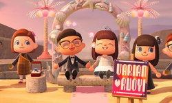 คู่บ่าวสาวจัดงานแต่งงานกันในเกม Animal Crossing: New Horizons