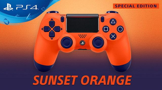 Sony เปิดตัวจอยเกม Dualshock 4 สีส้มสดใส