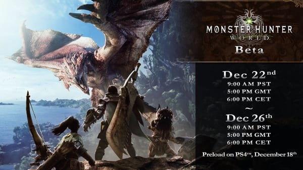 เกม Monster Hunter World เปิดให้ลองเล่นอีกรอบวันที่ 22 ธันวาคม นี้