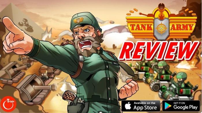 รีวิวเกม Tank Army เกมรถถังระบบสัมผัสฝีมือคนไทย ios android