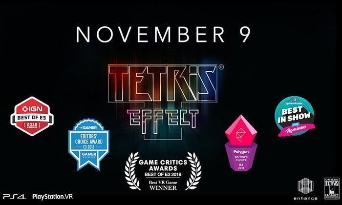 Tetris Effect เกมต่อบล็อคฉบับ VR ของ PS4 เตรียมวางจำหน่ายในไทย 9 พฤศจิกายน ศกนี้