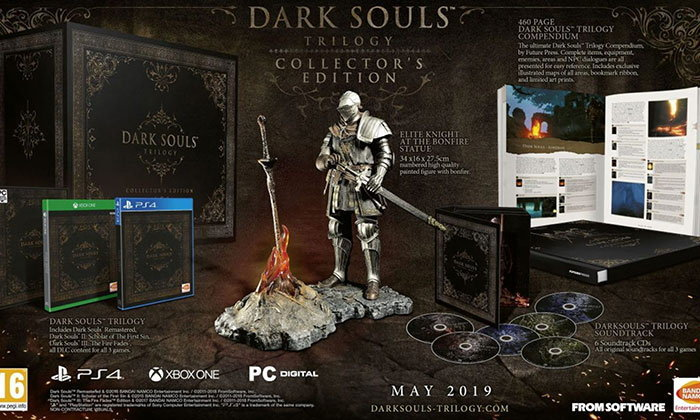 Bandai Namco เปิดตัวชุดสะสม Dark Souls Trilogy Collectors Edition