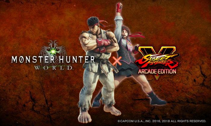พบตัวละครจากเกม Street Fighter โผล่ล่าแย้ในเกม Monster Hunter World