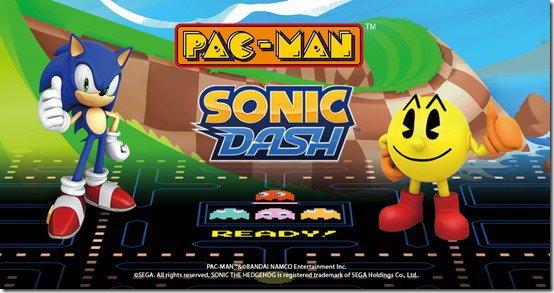 สองตำนานเม่นสายฟ้า Sonic มาพบ Pac-Man ในเกมบน สมาร์ทโฟน