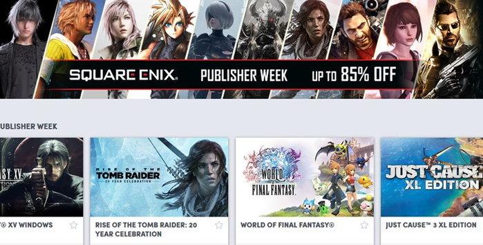 ค่าย Square Enix ลดราคาเกมใน humblebundle สูงสุด 85