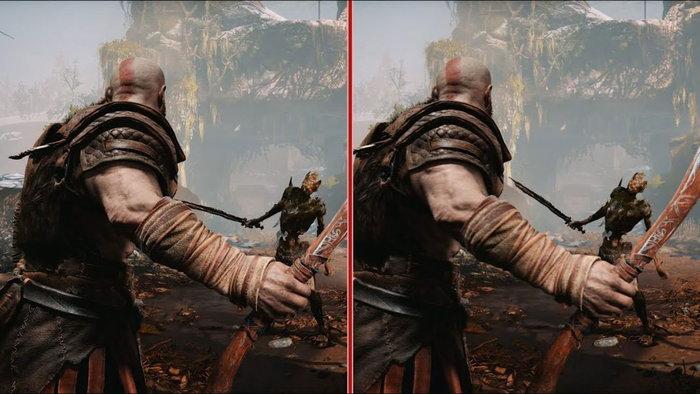 เปรียบเทียบ God of War แบบปรับ Performance vs. Resolution