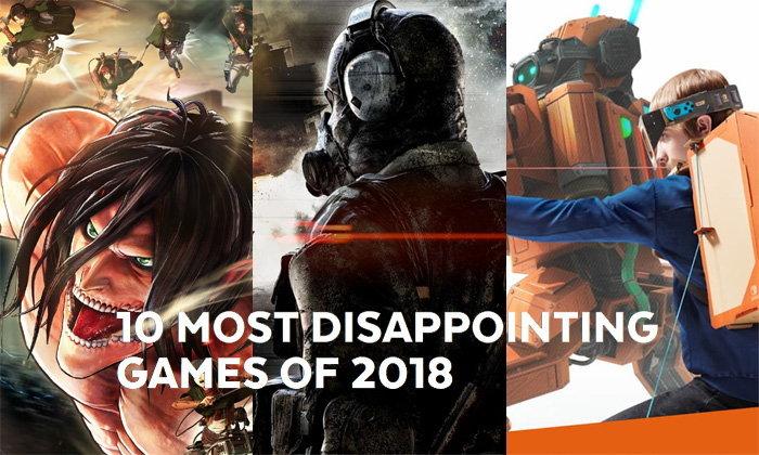 10 เกมส์น่าผิดหวังแห่งปี 2018 อุตส่าห์รอ พอออกมากลับไม่ดีอย่างที่หวังไว้