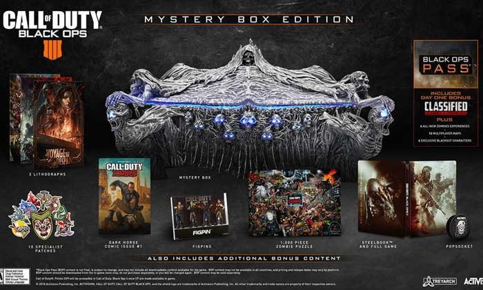 Activision เผยชุดสะสมสุดอลังการ Call of Duty Black Ops 4 Mystery Box Edition