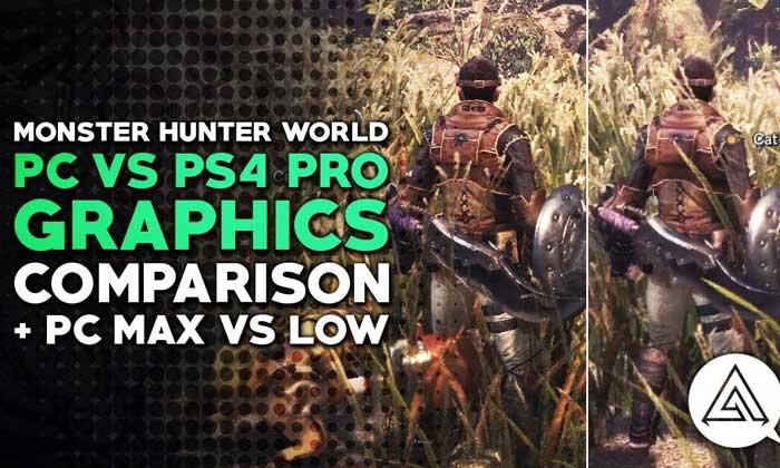 ชมคลิปเปรียบเทียบกราฟิก Monster Hunter World ระหว่าง PC vs PS4 Pro
