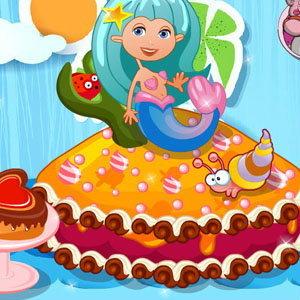 เกมส์ทำเค้กนางเงือกแสนสวย