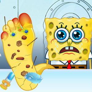 เกมส์คุณหมอรักษาเท้าเจ้าสป็องบ็อบ