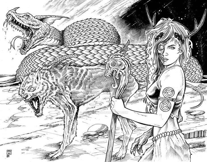หมาป่า Fenrir และ Hel ลูก 2 คนของ Loki ยังไม่ปรากฏตัวในซีรี่ส์ God of War