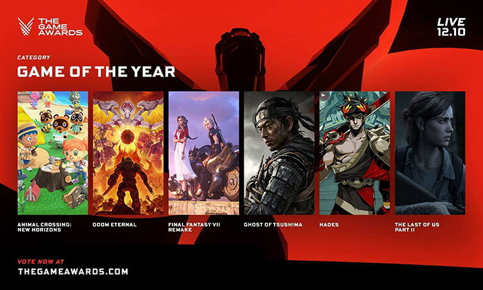 The Game Awards 2020 ประกาศผู้ท้าชิงรางวัลในสาขาต่างๆ