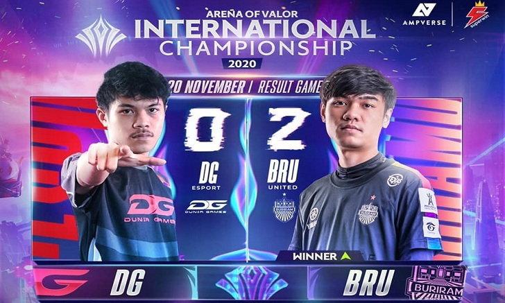 RoV สรุปการแข่งรอบ Group Stage : DG Esports vs Buriram United Esports