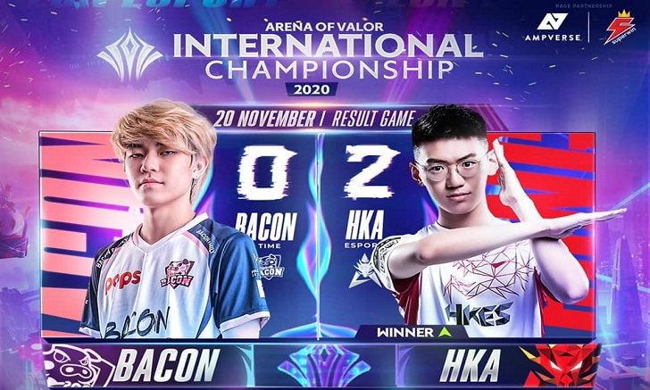 RoV สรุปการแข่งรอบ Group Stage : POPS Bacon Time vs Hong Kong Attitude