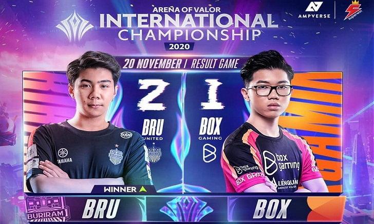 RoV สรุปการแข่งรอบ Group Stage : Buriram United Esports vs Box Gaming