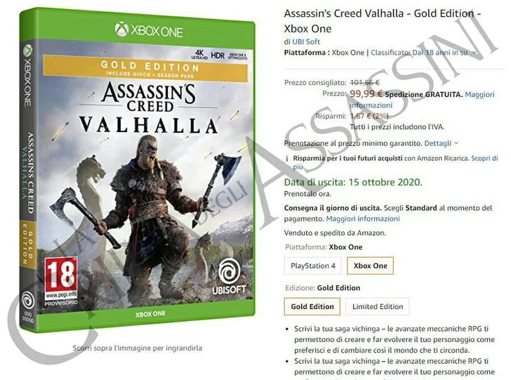 Assassin's Creed Valhalla  อาจจะ วางขาย ในเดือนตุลาคม