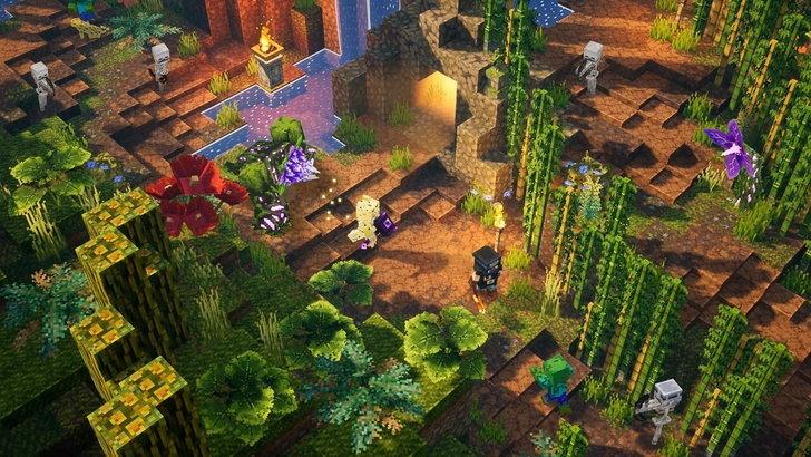 Minecraft Dungeons โดยล่าสุดนี้ DLC ตัวแรกที่เป็นอัปเดตชุดใหญ่