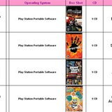 ตารางเกม PC และ PSP ที่จะออกของ New Era