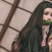 คอสเพลย์ตัวละคร เนซึโกะ คามาโดะ ในดาบพิฆาตอสูร หรือ Demon Slayer: Kimetsu no Yaiba