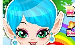 เกมส์แต่งหน้า Rainbow Fairy Facial Makeover