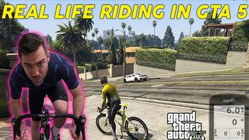 อยู่บ้านก็สุขภาพดี เมื่อแฟนเกม MOD ให้ปั่นจักรยานออกกำลังกายได้ใน GTA V