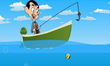 เกมส์ตกปลา Mr bean Fishing