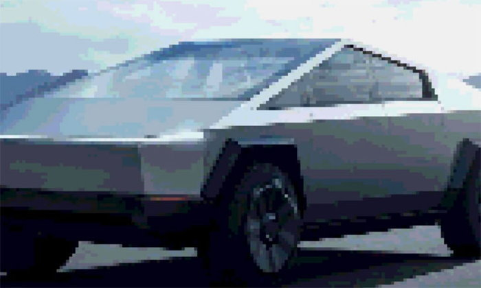 ชาวเน็ตล้อกระจาย! รถ Tesla Cybertruck หน้าตาเหมือนรถเกม PS1