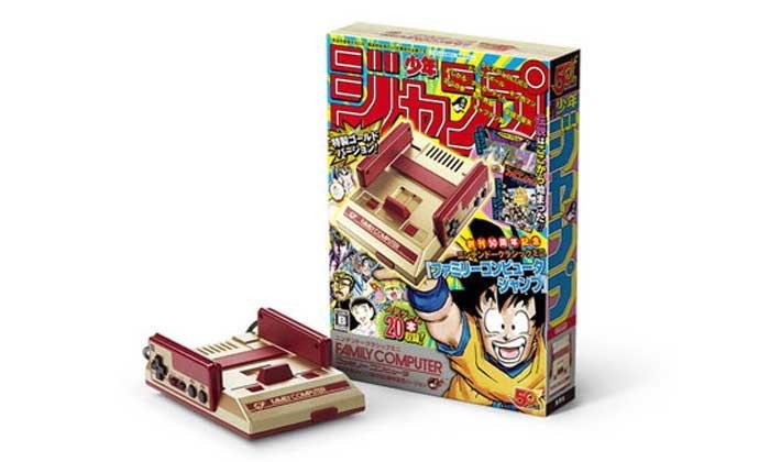 ชมภาพชัดๆเครื่องเกม Famicom Mini สีทองฉบับ Shonen Jump ครบ 50 ปี