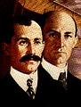 สองพี่น้อง ออร์วิลและวิลเบอร์ ไรต์ นำเครื่องบินคิตตี้ ฮอว์ก ขึ้นบิน