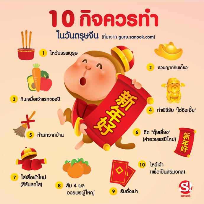 10 กิจที่ต้องทำ วันตรุษจีน