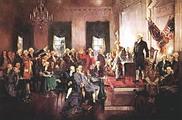 ผู้แทนจาก 12 มลรัฐ ร่วมลงนามใน รัฐธรรมนูญแห่งสหรัฐอเมริกา