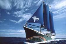 เรือ เรนโบว์วอริเออร์ ลำแรกของกลุ่ม กรีนพีซ (greenpeace)