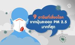 """9 อาชีพที่ """"เสี่ยงโรค"""" จากฝุ่นละออง PM 2.5 มากที่สุด"""