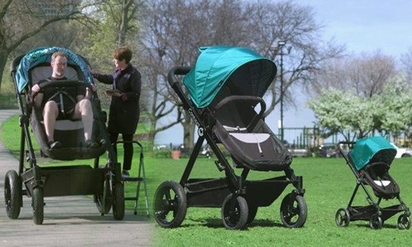 อยากลองไหม? รถเข็นเด็กยักษ์ ให้พ่อแม่ลองนั่งก่อนซื้อให้ลูกรัก