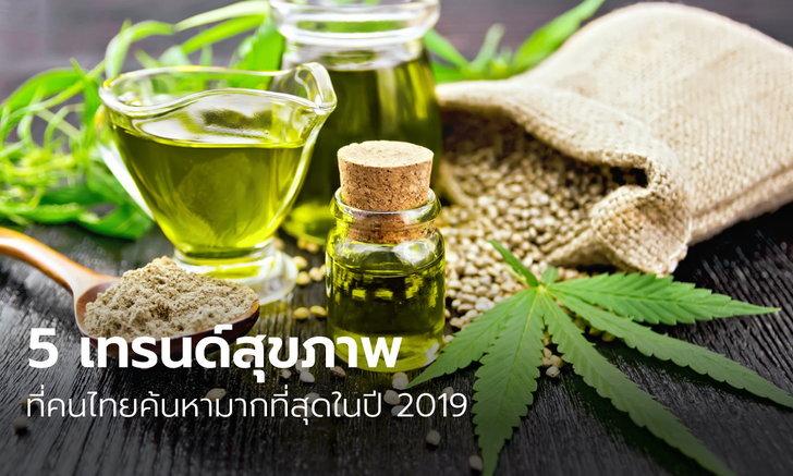 5 เทรนด์สุขภาพที่คนไทยค้นหามากที่สุดในปี 2019