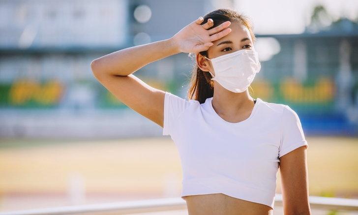 """ใส่ """"หน้ากากอนามัย"""" ออกกำลังกาย เสี่ยงออกซิเจนลด ปอด-หัวใจทำงานหนัก"""