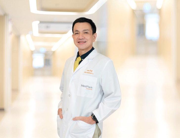 ศ.นพ.กีรติ เจริญชลวานิช ศัลยแพทย์ผู้ชำนาญการเฉพาะทางการผ่าตัดเปลี่ยนข้อเข่าเทียมและข้อสะโพกเทียม โรงพยาบาลเมดพาร์ค