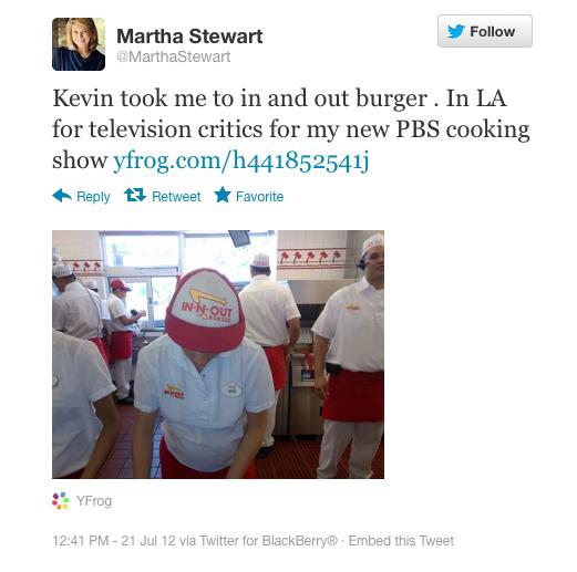 Martha Stewart, television personality: BlackBerry